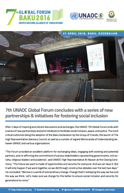 7th UNAOC Global Forum Newsletter